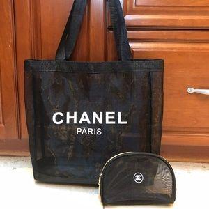 Chanel VIP gift  tote and makeup bag